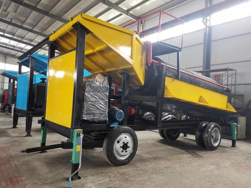 mobile gold washing plant