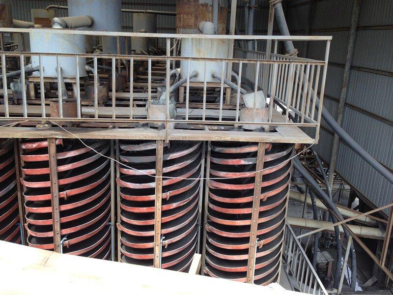 spiral chutes for chrome mining