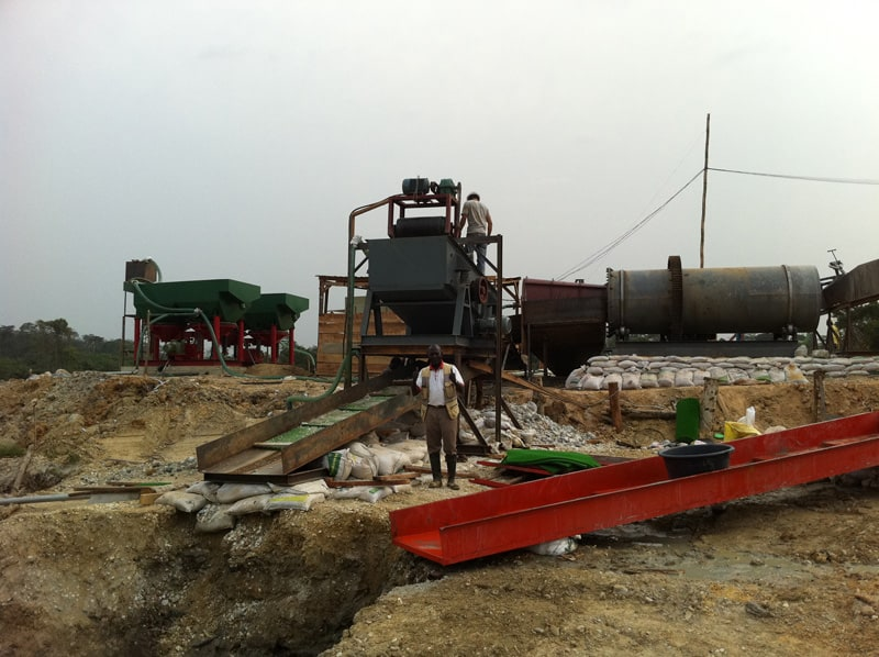 alluvial gold washing plant